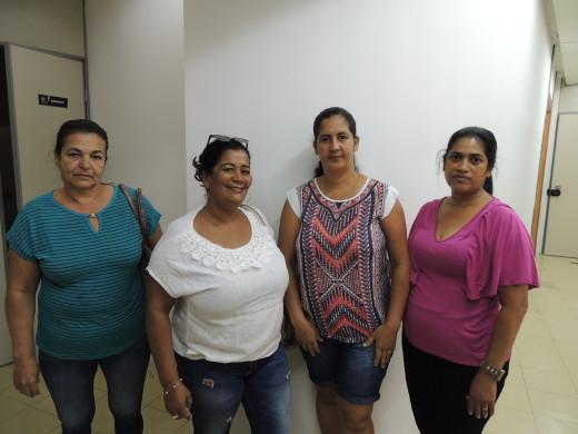 Rosalice de Matos(à direita) disse que foi a primeira vez que a prefeitura abriu as portas para recebê-los