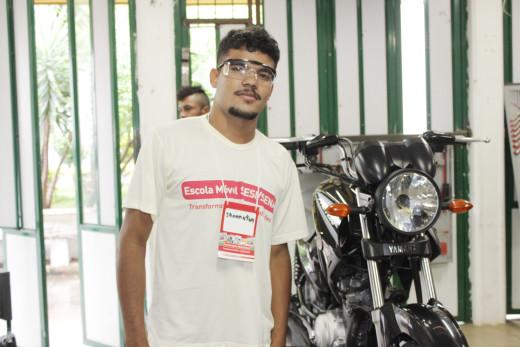 Jonatas Patrick está participando do curso e disse que é uma grande oportunidade para se profissionalizar