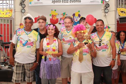 Premiação dos grupos participantes da folia