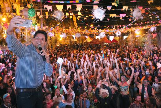 O Prefeito Daniel Sucupira, atribuiu ao público o brilho e sucesso da festa