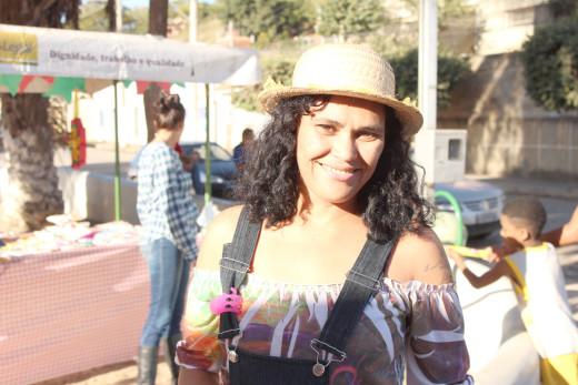 Janaina Rodrigues, ex-moradora de rua, participou da festividade