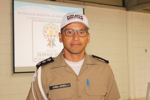 O capitão Joel de Almeida representou a Polícia de Meio Ambiente e Trânsito