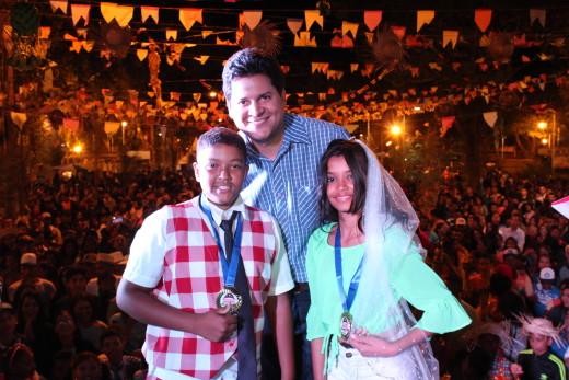 Vencedores da categoria Melhor Casamento Infantil