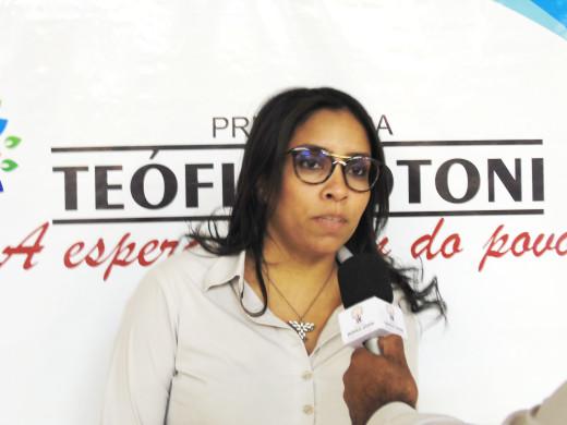 Ana Maria de Oliveira falou da participação da gestão municipal no evento