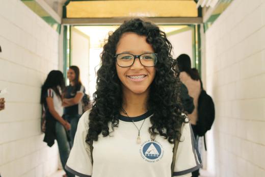 A aluna Bruna Rayssa disse que gostou da iniciativa