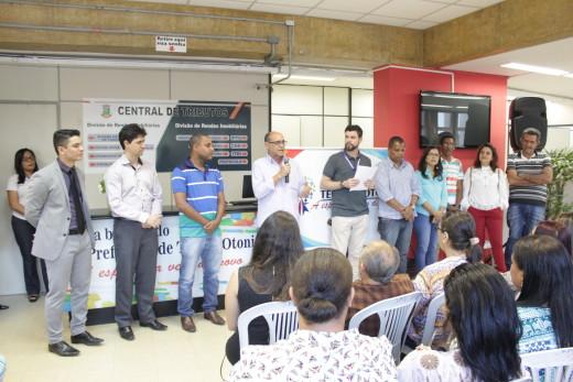 José Roberto deu boas-vindas e os incentivou a trabalhar com compromisso pela cidade