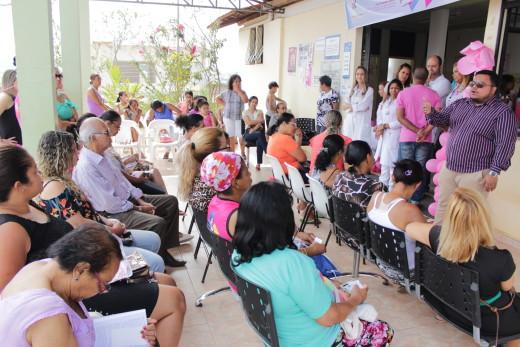 Durante todo o dia as mulheres participaram de palestras educativas e preventivas